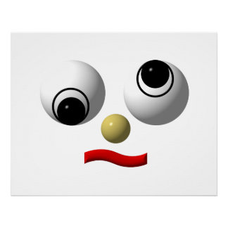 Googly-eyed face 4 poster