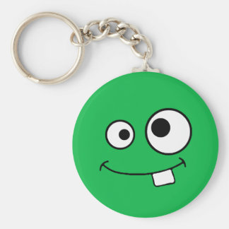Googly Eyed Green Monster Keychain