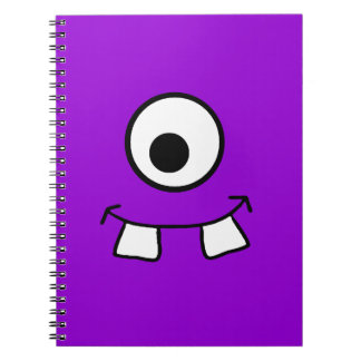 Googly Eyed Purple Monster Notebook