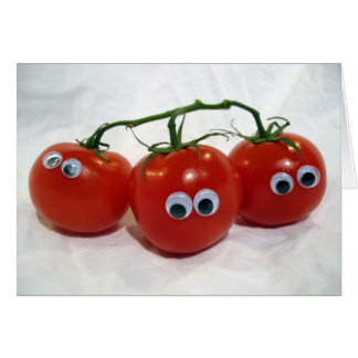 Googly Eyed Silly Tomatoes Card