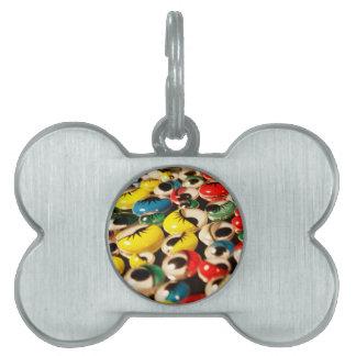 Googly eyes pet ID tag