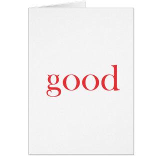 GOOS AS... GREETING CARD