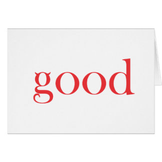 GOOS AS... GREETING CARD