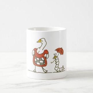 Goose and Caterpillar Basic White Mug