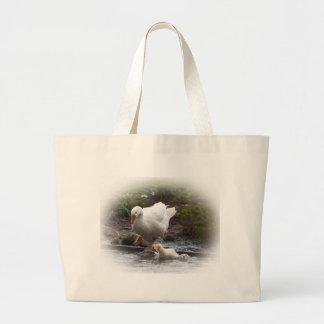Goose and Gosling Jumbo Tote Bag