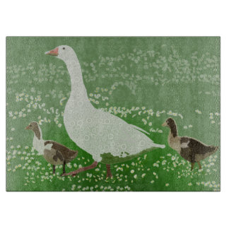 Goose And Goslings Cutting Board