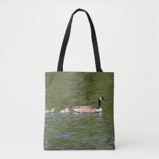 Goose And Goslings Tote Bag