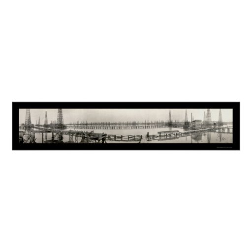 Goose Creek TX Oil Photo 1919 Poster