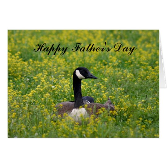 Goose Father's Daycard Card