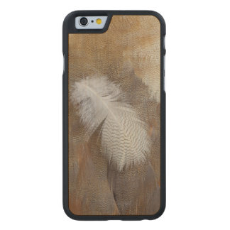 Goose Feather Still Life Carved Maple iPhone 6 Case