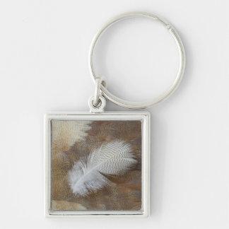 Goose Feather Still Life Key Ring