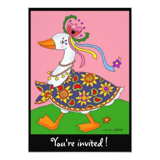Goose Goes Out Ukrainian Folk Art 13 Cm X 18 Cm Invitation Card