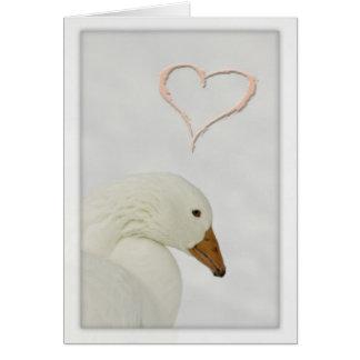 goose heart valentine greeting card