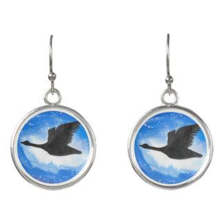 Goose In Flight Earrings