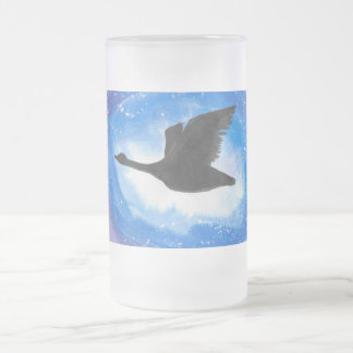 Goose In Flight Frosted Mug