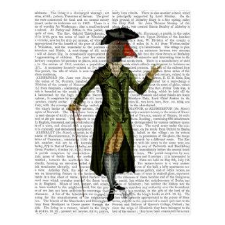 Goose in Green Regency Coat 2 Postcard