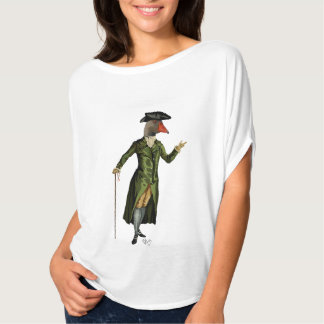Goose in Green Regency Coat 2 T-Shirt