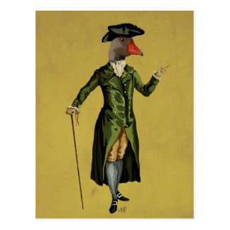 Goose in Green Regency Coat 3 Postcard
