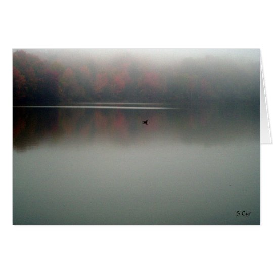 Goose in the Fog, S Cyr Card