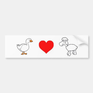 Goose. Love. Sheep. Bumper Sticker