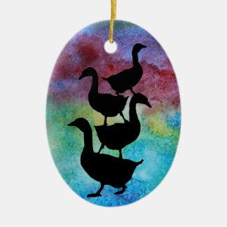 Goose Pile Christmas Ornament