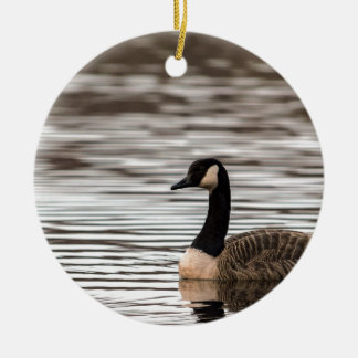 Goose Round Ceramic Decoration
