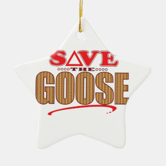 Goose Save Ceramic Star Decoration