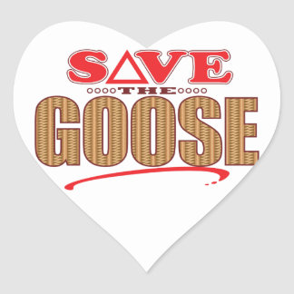 Goose Save Heart Sticker