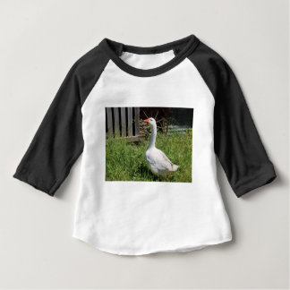 Goose with Wheel in background Baby T-Shirt