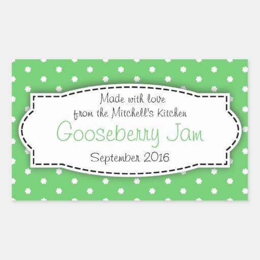 Gooseberry preserve jam green food label sticker