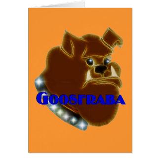 Goosfraba Bulldog Greeting Card