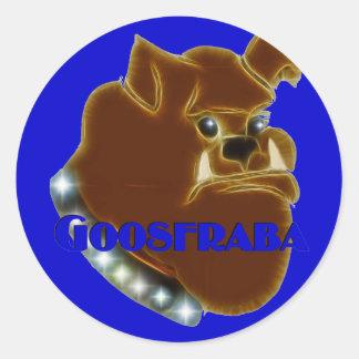 Goosfraba Bulldog Round Stickers