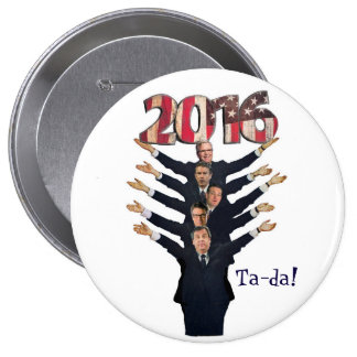 GOP 2016 Candidates for President 10 Cm Round Badge
