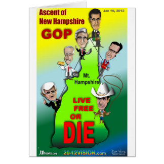 GOP Ascent of New Hampshire Greeting Card