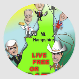 GOP Ascent of New Hampshire Round Sticker