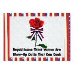 GOP Blow-Up Dolls 5x7 Paper Invitation Card