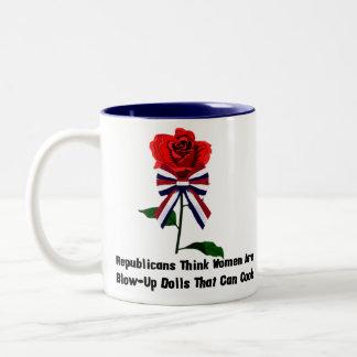 GOP Blow-Up Dolls Two-Tone Coffee Mug