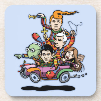 GOP Clown Car '16 Drink Coaster