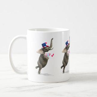 GOP Elephant Basic White Mug