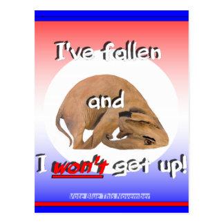 GOP elephant I ve fallen I won t get up Postcard