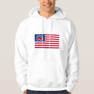 GOP Elephant Logo Flag Hooded Pullovers