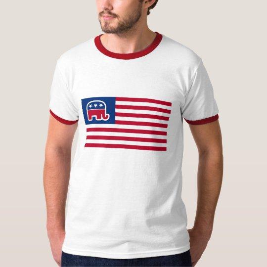 GOP Elephant Logo Flag T-Shirt