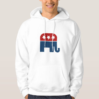 GOP elephant Logo republican design Hooded Pullovers