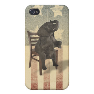 GOP Elephant Takes Over the Chair Funny Election iPhone 4/4S Case