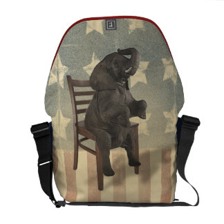 GOP Elephant Takes Over the Chair Funny Political Commuter Bag