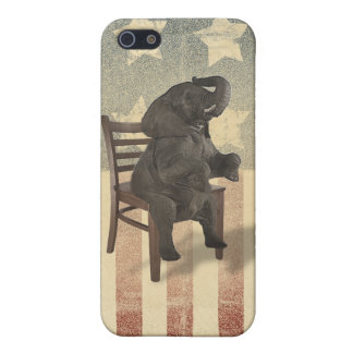 GOP Elephant Takes Over the Chair Funny Republican iPhone 5 Case