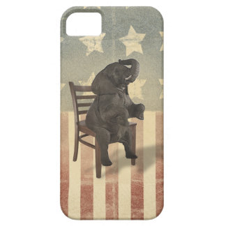 GOP Elephant Takes the Chair Funny Politics Humor Barely There iPhone 5 Case
