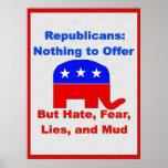 GOP Fearmongers Poster