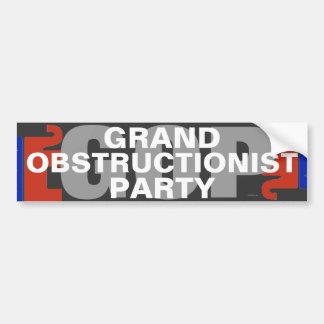 GOP Grand Obstructionist Party bumper sticker