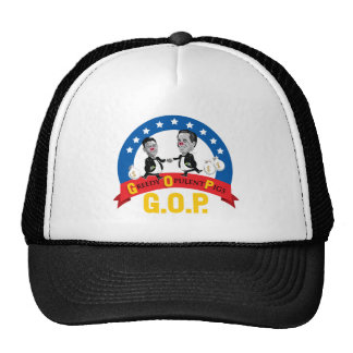 GOP-Greedy Opulent Pigs, Anti Romney, Hat